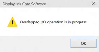 Overlapped I/O operation is in progress Windows 10